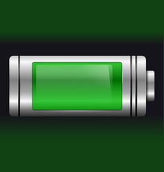 green metal with glass battery vector image
