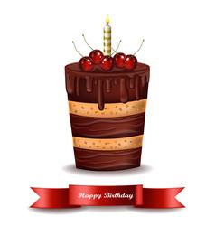 Happy birthday cake chocolate cake vector