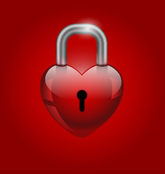 heart lock valentines day icon vector image