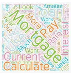 How To Choose The Right Mortgage Calculator For vector image