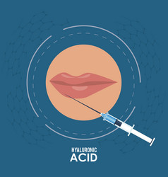 hyaluronic acid filler injection infographic flyer vector image