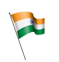India flag on a white vector