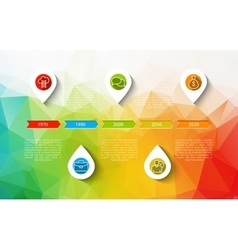 Infographic timeline design concept - template vector image