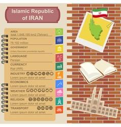 Iran infographics statistical data sights vector