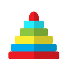isolated pyramid stack vector image