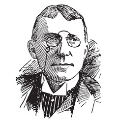 J whitcomb riley vintage vector