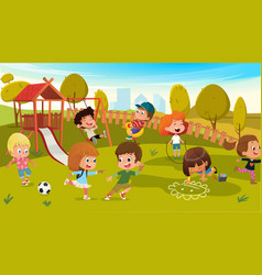 Kids play park playground vector