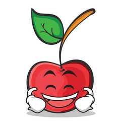 Laughing cherry character cartoon style vector