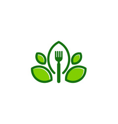 leaf food logo icon design vector image