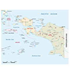 Map indonesian provinces papua west papua vector