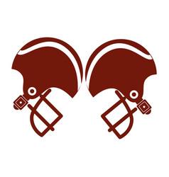 Pair of american football helmet vector