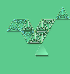 Polygon abstract on green background vector