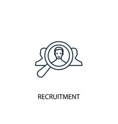 recruitment concept line icon simple element vector image