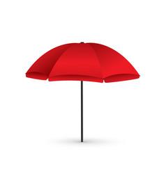 red beach umbrella holiday vector image