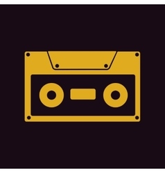 Retro music cassette vector