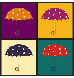 Retro umbrellas vector