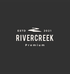 river creek hipster vintage logo icon vector image