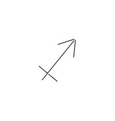 sagittarius line icon vector image