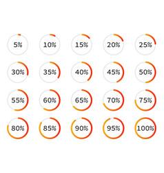 Set circle percentage diagrams for vector