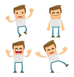 set of funny cartoon casual man vector image