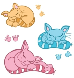 Sleeping cat vector
