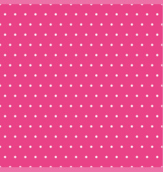 small white polka dots on pink background vector image