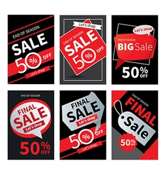 Social media sale banners and ads web template vector