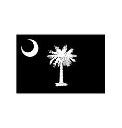 South carolina sc state flag united states vector