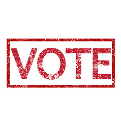 stamp text vote vector image