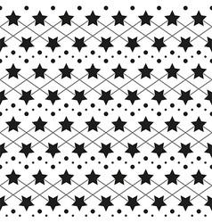 Star monochrome seamless texture vector image