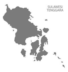 Sulawesi tenggara indonesia map grey vector