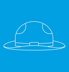 Summer hat icon outline style vector