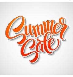 Summer sale message on orange background vector