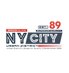 typography design ny city brooklyn vector image