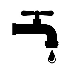 water tap isolated icon vector image