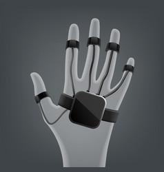 Wireless vr glove vector