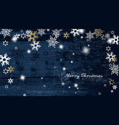 christmas dark background with golden - white vector image vector image