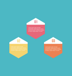 Collection step data for business infographic vector