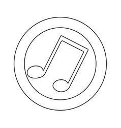 figure symbol music sign icon vector image