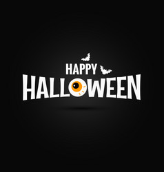 happy halloween logo design background vector image