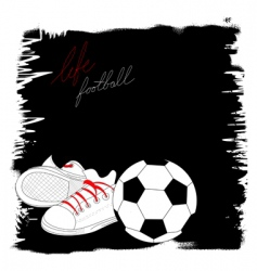 life with football vector image