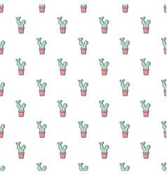 opuntia cactus pattern seamless vector image