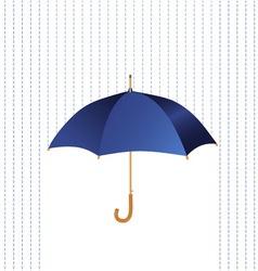 Umbrella icon with rain vector