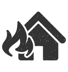 Fire Damage Icon Rubber Stamp vector image vector image