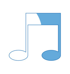 Note music melody sound artistic vector