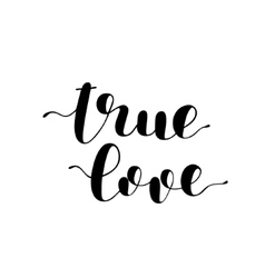 True love Brush lettering vector image vector image