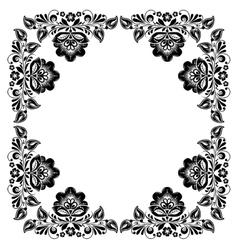 black and white vintage frame vector image