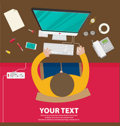 creative business and office conceptual design vector image