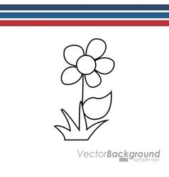 flower drawn design vector image
