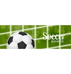 Football soccer banner design template with ball vector image